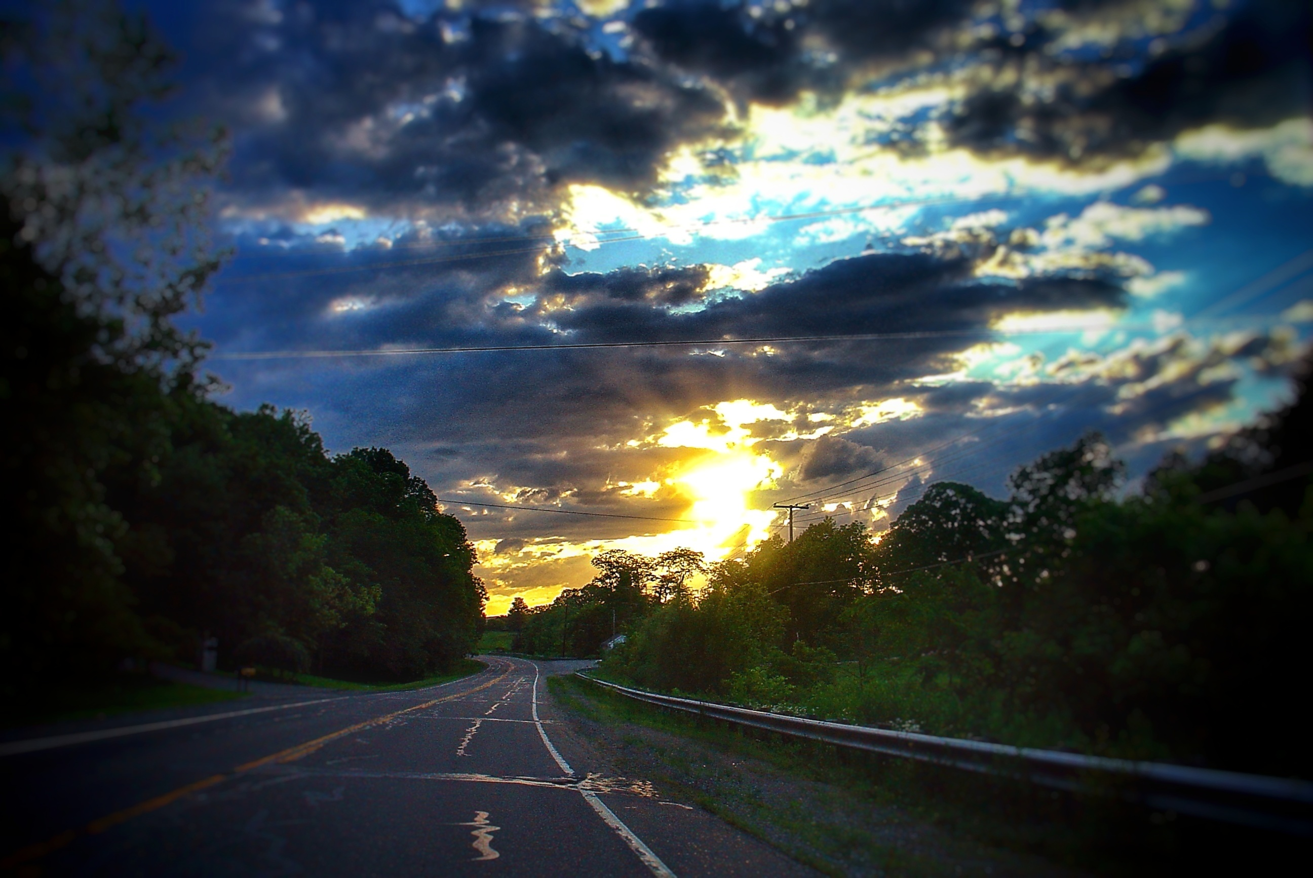 rt. 40 sunset